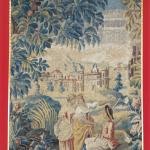 見送「水辺の会話」毛織物、18世紀フランス製