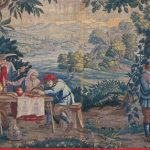 Trunk hanging: The Peasants' Meal, France, 17th century, Gobelins tapestry