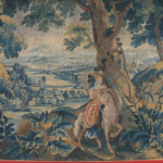 Trunk hanging: The Huntress, France, 18th century, Gobelins tapestry